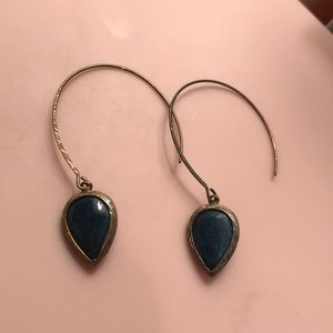 Anthropologie Hoops With Stone Droplet